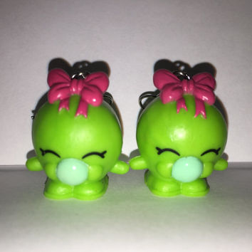 Shopkins Foodie Earrings - Bubbles - repurposed toys