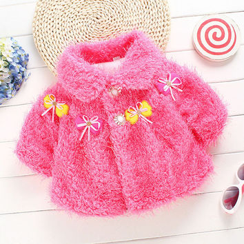 Hot New Cozy Infant Baby Toddler Thicken Cape Cloak Poncho Newborn Girls Winter Coat 0-12 M
