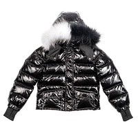 Scotch Bonnet Black & White Fur Down Coat