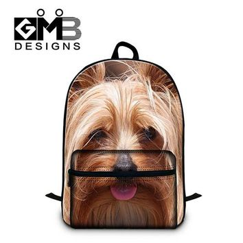 Boys bookbag trendy College Students School laptop Backpacks,Personalized Dog Pattern back pack,cute mochila for girls,boys stylish  day pack AT_51_3