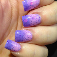 "NEW--""Charmed I'm Sure"" -Color Changing Thermal Nail Polish: Custom-Blended Indie Glitter Nail Polish / Lacquer"