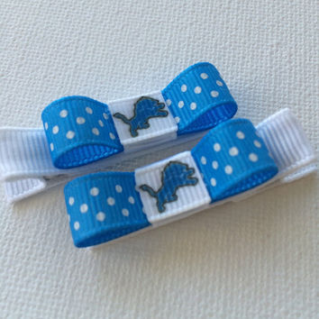 Detroit Lions hair clips - baby hair clips - toddler hair clips