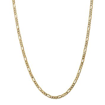 Leslies 14K 4.0mm Flat Figaro Chain