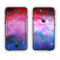 The Vivid Pink and Blue Space Apple iPhone 6 Plus LifeProof Nuud Case Skin Set
