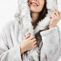 Full Fur Hooded Robe