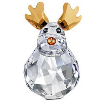 Swarovski Crystal Christmas Figurines ROCKING REINDEER #5103226 New