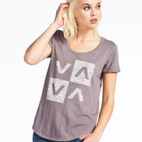 Rvca New Tribe Womens T-Shirt Shark  In Sizes