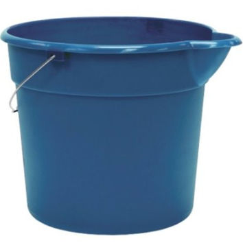 United Solutions PA0147 Blue 3 Gallon (12 Quart) Plastic Utility Pail with Handle and Pouring Spout - Pack of Three (3)