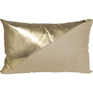 Better Homes and Gardens Faux Suede and Faux Leather Pillow - Walmart.com