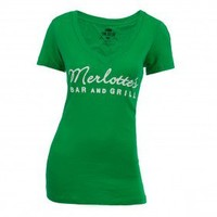 True Blood Merlotte's Bar & Grill Women's V-Neck T-Shirt