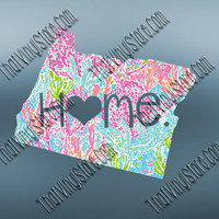 Oregon Heart Home Decal | I Love Oregon Decal | Homestate Decals | Love Sticker | Preppy State Sticker | Preppy State | 077