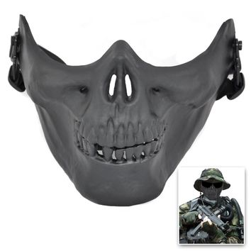Airsoft Mask Skull Skeleton Half Face