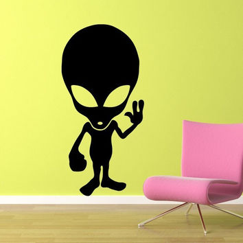 Alien Wall Decal - Large