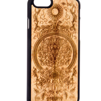 The Tree of Life from Birdseye Maple - iPhone 6/6S Wood Cover - Unique iPhone wood case -FREE WORLDWIDE SHIPPING!Handmade in Europe!