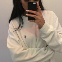 Polo Ralph Lauren Casual Embroidery Top Sweater Pullover Sweatshirt
