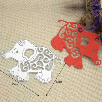 Hollow Elephant Metal Cutting Dies Stencils Xmas Scrapbooking Paper Cards Crafts