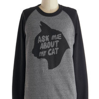 Cats Mid-length Long Sleeve Sweatshirt Purr Our Conversation Sweatshirt