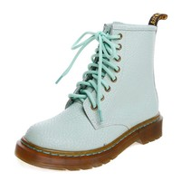 ZLYC Mint Green Ladies Lace Up Leather Ankle Boots