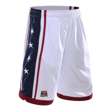 New USA Dream Team Men Basketball Shorts Running Short Fitness Gym Training Short Quick-dry Loose Beach Sport Short