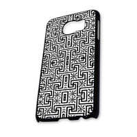 Black White Aztec Pattern Samsung Galaxy S6 Case