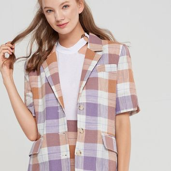 Karen Plaid Blazer-2 Colors