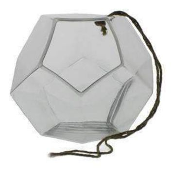 Hanging Dodecahedron Vase Large - Set of 2