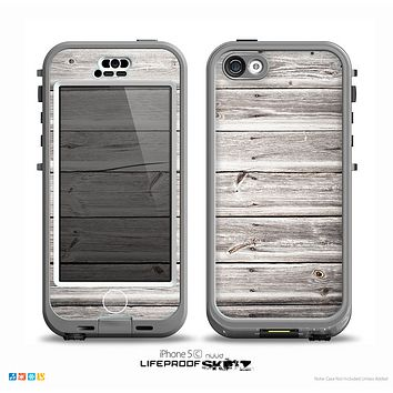 The Aged White Wood Planks Skin for the iPhone 5c nüüd LifeProof Case