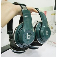 Fashion Beats Solo 3 Wireless Magic Sound Bluetooth Wireless Hands Headset MP3 Music Headphone With Microphone Line-in Socket TF Card Slot For Women Men Ink Green