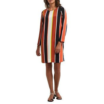Lexi Silk Stripe Shift Dress
