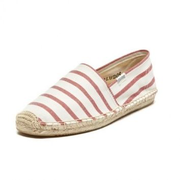 Classic Stripe Espadrille in Red and White by Soludos