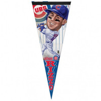 Chicago Cubs Anthony Rizzo Caricature Premium Pennant