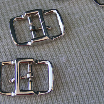 "Small Double Bar Buckle, 1/2"" Nickel Plated, Zinc Die Cast Buckle. New and never used."
