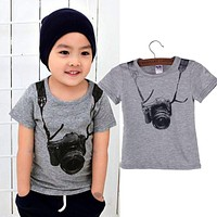 Baby Boy Camera Short Sleeve T Shirt