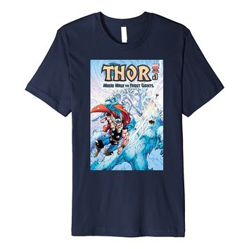 Marvel Thor Frost Giants Comic Cover Premium T-Shirt