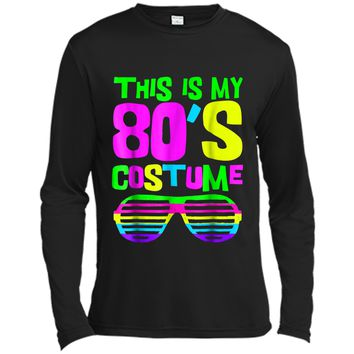 This Is My 80s Costume | Neon 80s Party Wear Outfit  Long Sleeve Moisture Absorbing Shirt