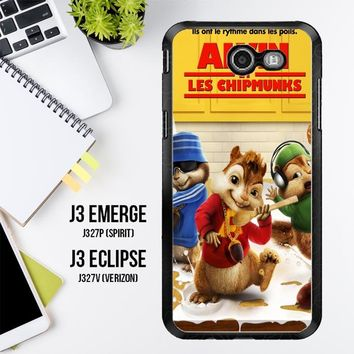 Alvin And The Chipmunks Y0710 Samsung Galaxy J3 Emerge, J3 Eclipse , Amp Prime 2, Express Prime 2 2017 SM J327 Case