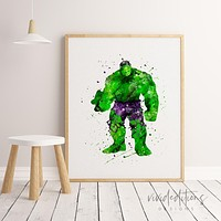 The Incredible Hulk 3 Watercolor Art Print