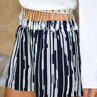 Lines Of Envy Shorts: Navy | Hope's