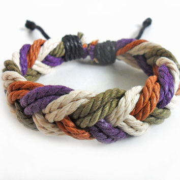 Bangle hemp ropes bracelet woven bracelet men bracelet women bracelet made of hemp ropes woven cuff bracelet  SH-2220