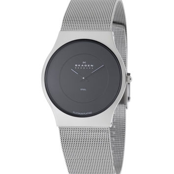 Skagen 233XLSBPL Men's Denmark Black Dial Stainless Steel Quartz Watch