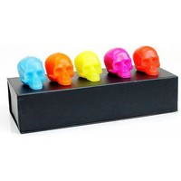 D.L. & Co Bright Colors Mini Skull Gift Set