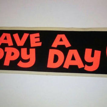 60s Funky cool bumper sticker