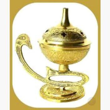 Embossed Brass Burner
