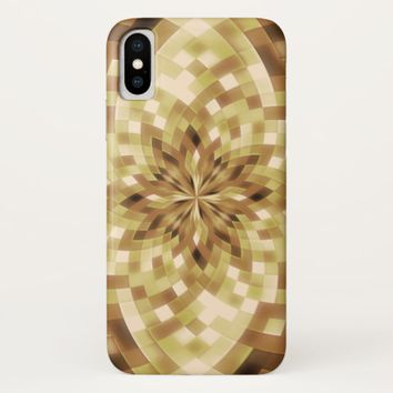 Gold Abstract Mandala Pattern iPhone X Case