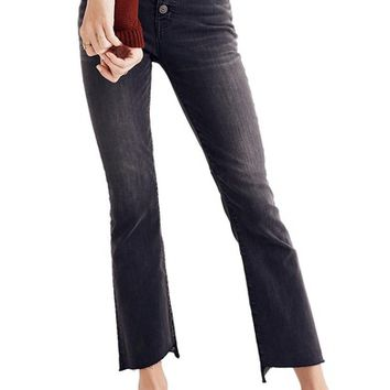 Madewell Cali Demi Bootcut Crop Jeans (Woodston) | Nordstrom
