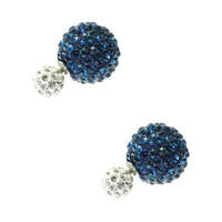 Double Side Crystal Pave Earrings