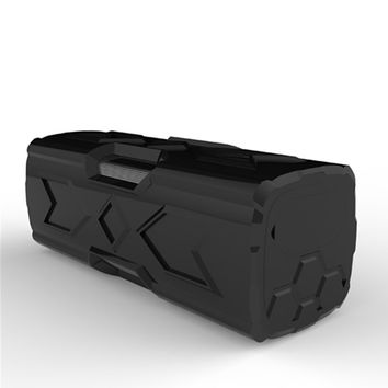 newest four waterproof Bluetooth wireless outdoor speaker stereo mountaineering priced 3D surround sound Black