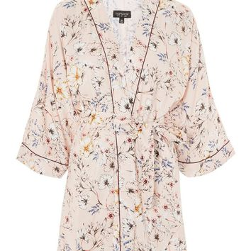 Sketchy Floral Dressing Gown | Topshop