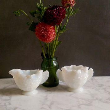 Milk Glass Creamer and Sugar Bowl/ Milk Glass Containers/ Milk Glass Bowls/ milkglass/ Milk Glass Set/ Coffee Creamer