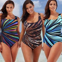 Plus Size Women One Piece Swimsuit